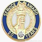 3/4″ Service Recognition Award Pins 5 Years with Diamond 1
