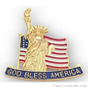 15/16″ Statue Of Liberty and American Flag Pins 1