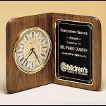 Clock Award – American Walnut Desk Clocks 1