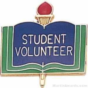 "3/4"" Student Volunteer Pin"