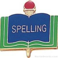 "3/4"" Spelling School Award Pins"
