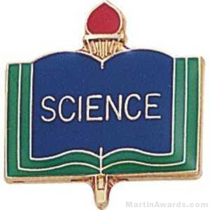 3/4″ Science School Award Pins 1
