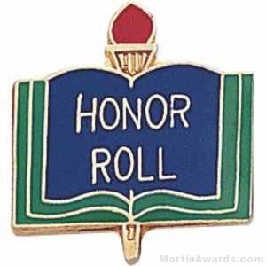 3/4″ Honor Roll School Award Pins 1
