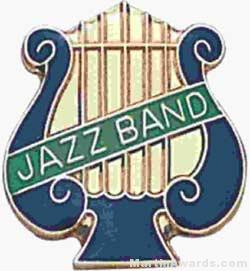 5/8″ Enameled Jazz Music Pin 1
