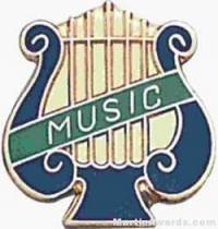 "5/8"" Enameled Music Pin"