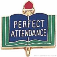 "3/4"" Perfect Attendance School Award Pins"