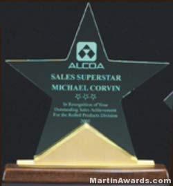 Acrylic Award - Constellation Series Star Acrylic Award