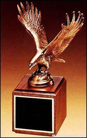 Eagle Award – Antique Bronze Cast Eagle with Walnut Base 1